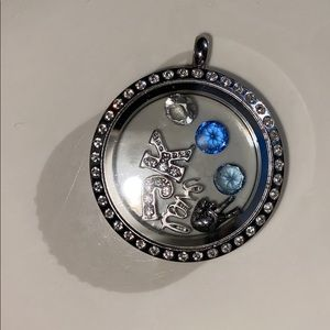 ORIGAMI OWL LOCKET and charms in like new shape!